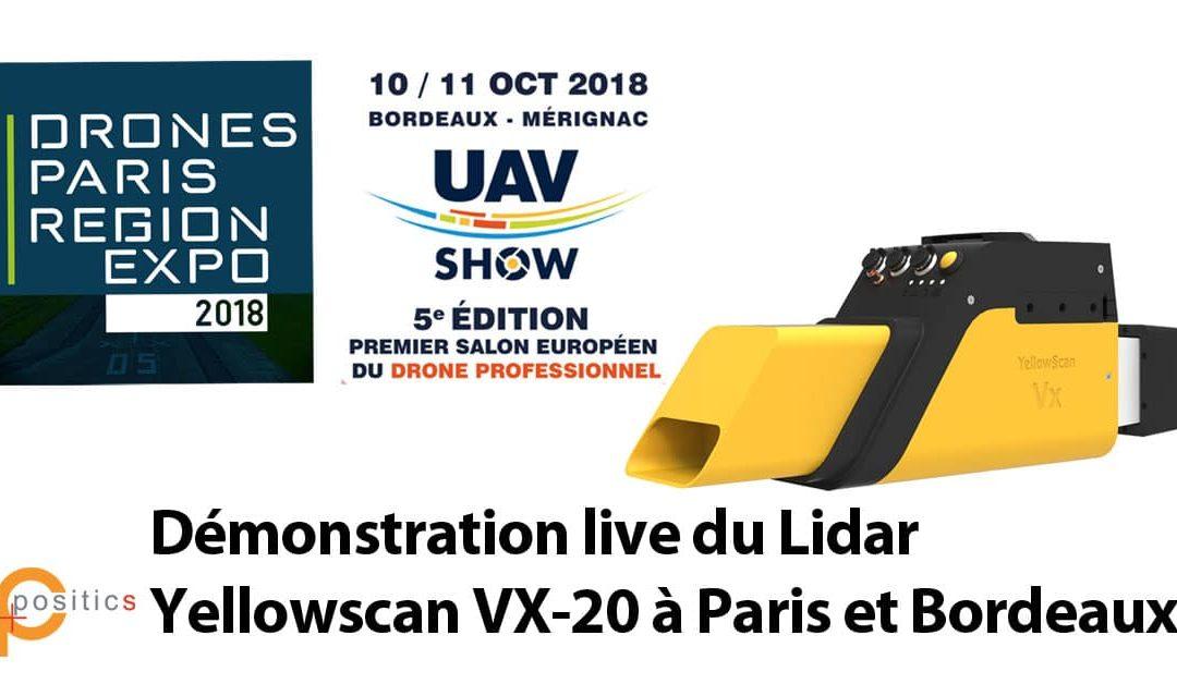 Démonstration live du Lidar Yellowscan VX-20 à Paris et Bordeaux