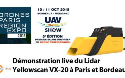 Démonstration live du Lidar Yellowscan VX-20 à Paris et Bordeaux